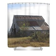 Rusted Barn Shower Curtain