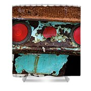 Rusted Blue Taillight Shower Curtain