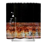Rusted Layer Shower Curtain