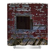 Rustic Barn Red Peeling Paint Shower Curtain
