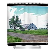 Rustic Barn Scene Shower Curtain