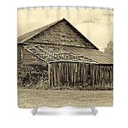 Rustic Charm Sepia Shower Curtain