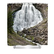Rustic Falls Yellowstone Shower Curtain