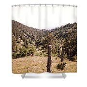Rustic Fence Shower Curtain