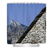 Rustic House And Mountain Shower Curtain