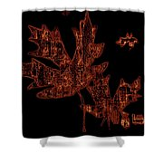 Rustic Leaves Shower Curtain
