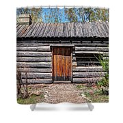 Rustic Pioneer Log Cabin - Salt Lake City Shower Curtain