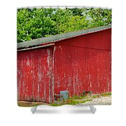 Rustic Red Shower Curtain