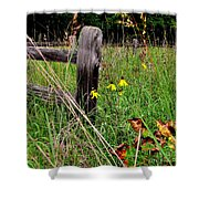 Rustic Road Charm Shower Curtain