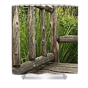 Rustic Seating Shower Curtain