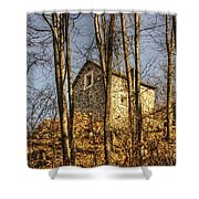 Rustic Stone House Shower Curtain
