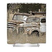 Rustic Trucks Shower Curtain