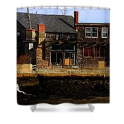 Rustic Waterfront Shower Curtain