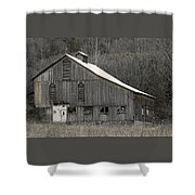Rustic Weathered Mountainside Cupola Barn Shower Curtain