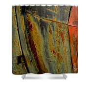Rusty Abstract Shower Curtain