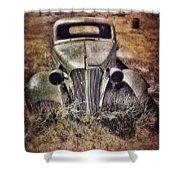 Rusty Car  Shower Curtain