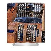 Rusty Cash Register Shower Curtain