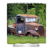 Rusty Chevy Shower Curtain