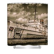 Rusty Duke Shower Curtain by Adrian Evans