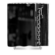 Rusty Lock - Black And White Shower Curtain