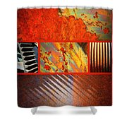 Rusty Metal Canvas Shower Curtain