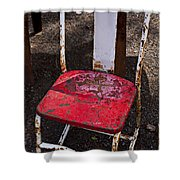 Rusty Metal Chair Shower Curtain