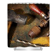 Rusty Tools Shower Curtain
