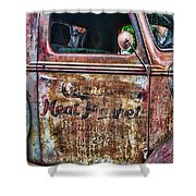 Rusty Truck Door Shower Curtain