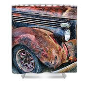 Rusty Truck Hood And Fender Shower Curtain