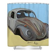 Rusty V.w. Bug Shower Curtain