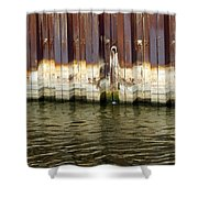 Rusty Wall By The River Shower Curtain