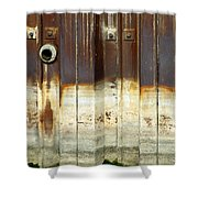 Rusty Wall In The City Shower Curtain