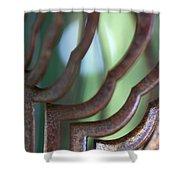Rusty Windchimes Shower Curtain