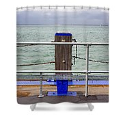 Ryde On The Solent Wharf Shower Curtain