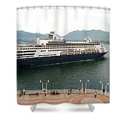 Ryndam Vancouver Port 1 Shower Curtain