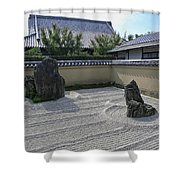 Ryogen-in Raked Gravel Garden - Kyoto Japan Shower Curtain