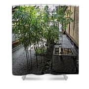 Ryogen-in Tsukubai - Kyoto Japan Shower Curtain