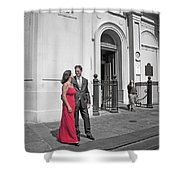 S And D 54 Shower Curtain by Kathleen K Parker