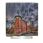 S Bahn Eck Shower Curtain