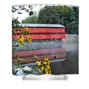 Sachs Covered Bridge At Gettysburg Shower Curtain