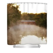Sachs Covered Bridge In The Mist Shower Curtain
