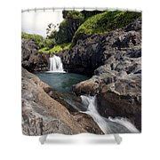 Sacred Pool Falls Shower Curtain