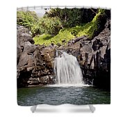 Sacred Pool Waterfall Shower Curtain