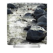 Safely Through The Boulders Shower Curtain