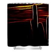 Saguro Cactus Silhouette Shower Curtain