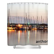 Sail Boat On The River Shower Curtain