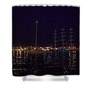 Sailboat And Maltese Hawk Shower Curtain