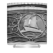 Sailboat On The Boathouse Shower Curtain