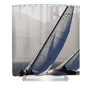 Sailboats Race On San Francisco Bay Shower Curtain