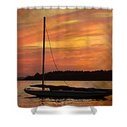 Sailin' On Dewey Shower Curtain